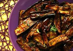 Marcus Samuelsson's Grilled Marinated Eggplant with Parsley Vinaigrette