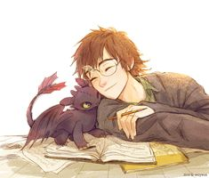 Hiccup and Toothless Httyd Dragons, Cute Dragons, Arte Disney, Disney Fan Art, Disney Drawings, Art Drawings, Hicks Und Astrid, Hiccup And Toothless, Dragon Rider