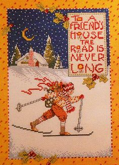 mary engelbreit cross stitch patterns | Mary Engelbreit CROSS COUNTRY SAMPLER Picture - Counted Cross Stitch ...
