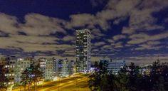 Night blue sky