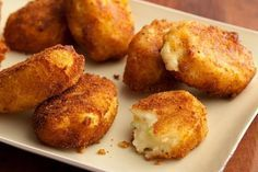 Potato Croquettes Recipe : Paula Deen : Food Network - What to do with leftover mashed potatoes! Leftover Mashed Potatoes, Mashed Potato Recipes, Potato Dishes, Potato Cakes, Potato Meals, Potato Food, Cheesy Potatoes, Croquettes Recipe, Potato Croquettes