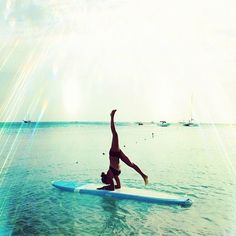 I want to try Yoga paddle boarding!!