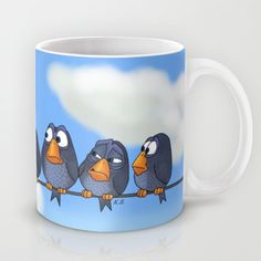 """The New Guy Mug - Free Shipping till Cyber Monday!!!  Disney Pixar """"For the Birds"""" meet """"Angry Bird"""" in """"The New Guy"""""""