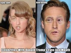 Celebrities With Donald Trump's Eyes and Mouth (GALLERY)