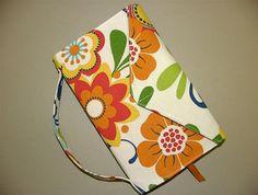 Trade Size Paperback Book Cover Large Bookcover Fabric - Retro - Bright Orange,  books