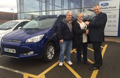 Mrs Smith was at our Rayleigh dealership this month to collect her Ford Kuga from Essex Ford! Ford, Plate, Brand New, News, Collection, Dish