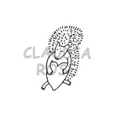 Nuts for You - CR386D - Rubber Art Stamp