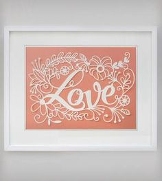 Love Papercut Art