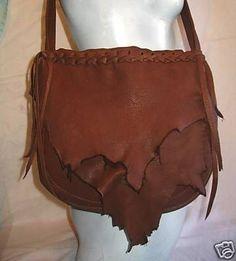 """Leather Designer Handbag,Hand Made Deerskin Purse in Rust or Black  Colored Deerskin """"PRETTY PATTY"""" Handmade by Debbie Leather. $129.95, via Etsy."""
