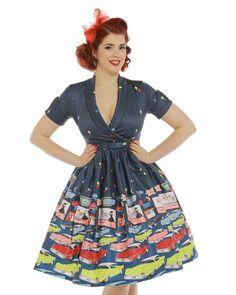 14c3d572aef6 Diner Drive-In 50s Cars Lindy Bop Pinup Rockabilly Swing Dress! Klasické  Šaty