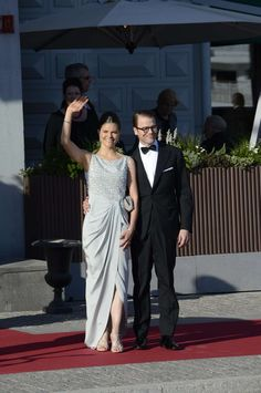 MYROYALS  FASHİON: Wedding Celebrations of Princess Madeleine and Chris O'Neill- Pre-Wedding Dinner-Crown Princess Victoria and Prince Daniel arrive