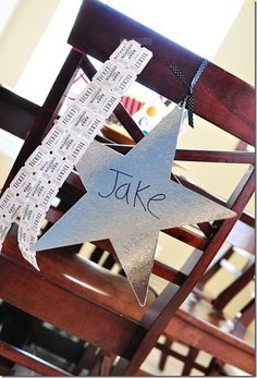 Movie Theme Party Chair Decor for me