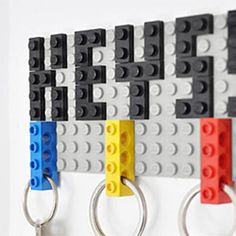 Check out this playful key hanger made of LEGO, created by German architect Felix Grauer.