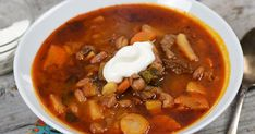 Goulash Soup, Stew, National Dish, Hungarian Recipes, No Cook Meals, Chili, Salsa, Side Dishes, Cooking Recipes
