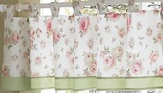 Rileys Roses Shabby Chic Window Valance by Sweet Jojo Designs Kids Window Treatments, Window Coverings, Shabby Chic Green, Traditional Curtains, Contemporary Curtains, Shabby Chic Bedrooms, Room Accessories, Cottage Chic, Valance Curtains