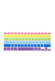 Rainbow Keyboard Cover | FOREVER21 #Accessories this is what i was saying!!! for our mac:D