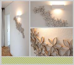 DIY blumige Wanddekoration  - sieht mit Flacheisenstücken gemacht sicher toll aus.....ist einen Versuch wert!