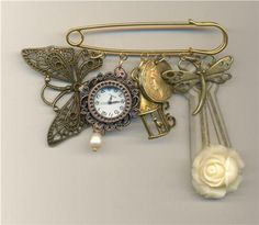 Louise Pringle . Key hole cover kilt pin brooch