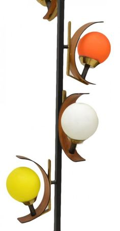 Italian mid-century modern four-light floor lamp, c. 1960's
