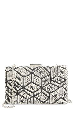 Sondra Roberts Woven Box Clutch available at #Nordstrom
