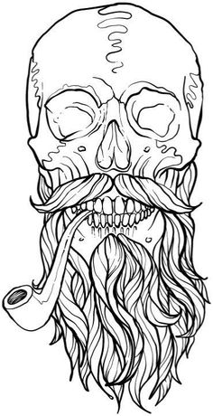 Best Halloween Coloring Books for Adults - Cleverpedia Skull Coloring Pages, Adult Coloring Book Pages, Coloring Books, Colouring, Unique Coloring Pages, Mandala Coloring, Coloring Sheets, Halloween Coloring Pictures, Pencil Drawings