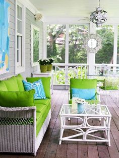 We definitely need a table on the porch! A small one between rocking chairs would be great too