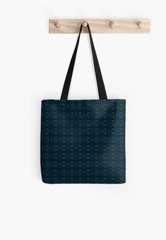 Gift for Blue Color Lovers • Millions of unique designs by independent artists. Find your thing. Large Bags, Small Bags, Cotton Tote Bags, Reusable Tote Bags, Dark Blue Background, Dark Blue Color, Blue Aesthetic, Medium Bags, Pattern Wallpaper