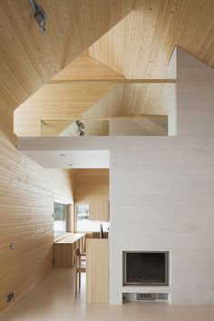 House Riihi by OOPEAA - IGNANT architects companies architecture design architecture architecture arch design Wood Architecture, Architecture Details, Parametric Architecture, Drawing Architecture, Architecture Portfolio, L Shaped House, Wood Interiors, House In The Woods, House Ideas