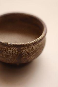 梅花皮の茶碗
