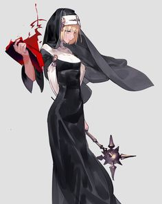 Martha,Cleric of ? Fantasy Character Design, Character Design Inspiration, Character Concept, Character Art, Dnd Characters, Fantasy Characters, Female Characters, Servamp Anime, Anime Art