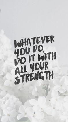 Whatever you do, do it will all your strength 💪❤️ Scripture Wallpaper, Christian Inspiration, Career Advice, Faith Quotes, Encouragement, Bible, Inspirational Quotes, Thoughts, Motivation