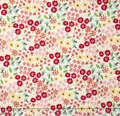 Farm Fun  Wild Flowers Milk Yardage by Stacy Iset Hsu for