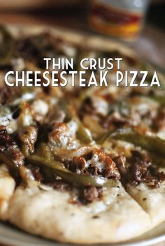 Cheesesteak Pizza Recipe - Sub Classico sauce for homemade sauce or no sauce/cheese only