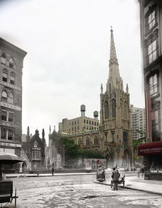 Grace Church on Broadway near 11th street - view from in front of 67 East 11th Street (801 Broadway)