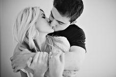 adorable b & w engagement shoot