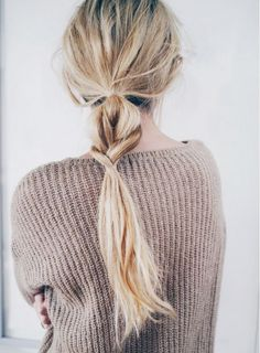 semi-braid ponytail