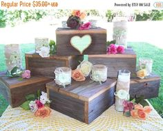 Pick me sale cupcake stand / cake stand / wood cake stand / rustic cake stand / cake Box / cake Plate / table centerpiece / wedding receptio