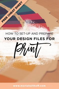 There is surprisingly a lot of detail that goes into setting up a design  file for print. I want to make sure you do it correctly, so you don't waste  money at the print shop. In this post, I've outlined how to set up and save  your design files for print preparation in Illustrator, Photoshop and