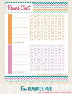 Pinch A Little Save-A-Lot: Free: Reward Chart