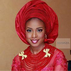 Pink & red ❤️❤️❤️ @hadeezatu_ makeup by @mamzabeauty ! #BellaNaijaWeddings