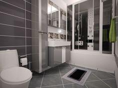 Esimerkki kylpyhuonesuunnitelmasta K-rauta Venäjä (huom. tuotevalikoima vaihtelee maittain). A bathroom design from K-rauta Russia. Please note that the sortiment varies from country to country.