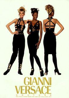 80s-90s-supermodels:  Versace F/W 1992/'93Photographer: Irving PennModels: Claudia Schiffer, Naomi Campbell & Christy Turlington