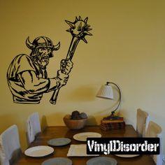Viking Warrior Wall Decal - Vinyl Decal - Car Decal - DC 013
