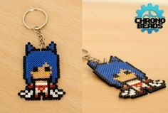 Ahri - hama perler beads - League of Legends - LoL - Keychain - customizable