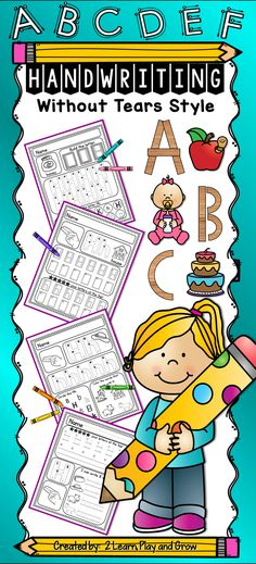 Do your kids need help learning to form their letters correctly. This blended approach to handwriting is similar to HWT curriculum but also works with traditional manuscript. Practice handwriting, phonological awareness, letter recognition and more. Circle Time Activities, Alphabet Activities, Writing Activities, Teaching Resources, Preschool Alphabet, Alphabet Worksheets, Handwriting Worksheets, Primary Resources, Alphabet Crafts