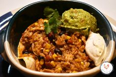 Weekday Burrito in a Bowl: Instant Pot -