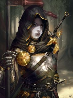 Dread Knight of the Seraphim (Dark Lady Knight) by Devtexture.deviantart.com on @DeviantArt