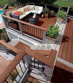 Multi Level Deck with Wood Floor