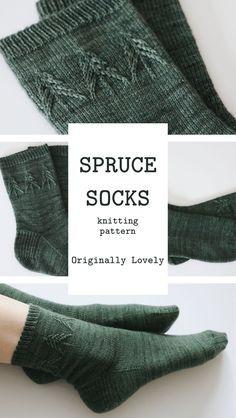 Spruce socks knitting pattern Originally very nice - knitting - # spruce . Spruce socks knitting pattern Originally very beautiful - knitting - Knitting , l. Knitting Socks, Knitting Stitches, Knitting Patterns Free, Knit Patterns, Free Knitting, Knitting Ideas, Knitted Socks Free Pattern, Diy Knitting Projects, Knitting Tutorials