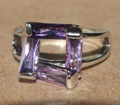 modern-abstract-design-Amethyst-silver-ring-jewelry-Sz-6-25-cocktail-style-H1V